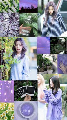 Red Velvet Irene green and purple phone lockscreen ©Ch.Dani_Suk
