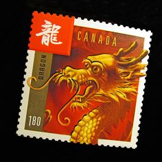 2012 Year of the Dragon Stamp - Canada