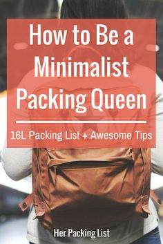 How to Be a Minimalist Packing Queen