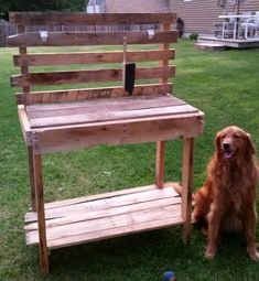 Pallet Potting Bench - Step by Step   101 Pallet Ideas