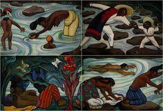 "pochutleco: "" RÍO JUCHITÁN. Mural en mosaico. DIEGO RIVERA. """