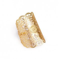 Sole Society Accessories - Lace Oversized Ring - Gold