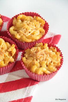 macaroni and cheese muffins, #SUPERBOWL SNACKS