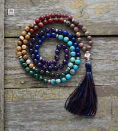 Cheap necklace jewelry, Buy Quality yoga necklace directly from China tassel necklace Suppliers: 7 Chakra Mala Unique 8MM Natural Stone Stone Long Tassel Necklace Women Meditation Necklace Knotted Bead Yoga Necklace Jewelry