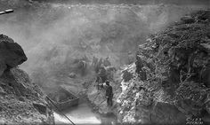 Workers excavating to construct Buchanan Dam in 1931 - a vintage photo from the LCRA archives.