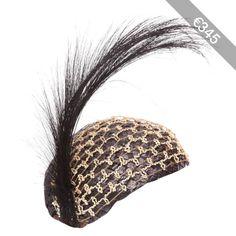 Preowned 1920s Black Raffia Flapper Hat