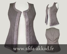 Gilet avec broderie marocaine Vest with Moroccan embroidery www.sfifa-akkad.fr