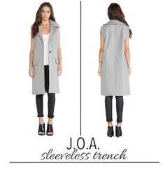 sleeveless trench co