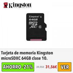 Tarjeta Kingston microSDXC 64GB