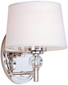 Maxim Rondo Modern Polished Nickel 6 1/2-Inch-W Wall Sconce - #EUV2574 - Euro Style Lighting