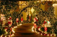 vorgarten weihnachtlich dekoriert