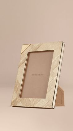 Gold Small Embossed Check Picture Frame - Image 1