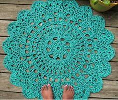 Patrones de alfombras a ganchillo - Imagui