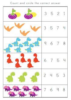 Dinosaurs Preschool, Dinosaur Activities, Preschool Writing, Preschool Learning Activities, Free Preschool, Preschool Curriculum, Homeschool, Kindergarten Addition Worksheets, Kindergarten Math Worksheets