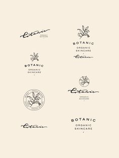 Botanic Organic Skincare Branding — Viola Hill Studio - Organic botanical natural hand lettered branding board by Viola Hill Studio - Food Logo Design, Brand Identity Design, Branding Design, Modern Logo Design, Ad Design, Cafe Branding, Cafe Logo, Logo Inspiration, Graphic Studio