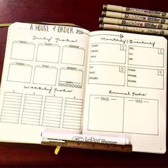 A House of Order I stole the layout from an {ex}planner I have laying around. A plan to keep things clean isn't the worst idea, eh?! #bujo #bulletjournal #bulletjournaljunkies #planner #plannerpeace #planneraddict #cleaning #minimalist #simple #clean #cleanhouse #organize #lists #writeitdown #getitdone