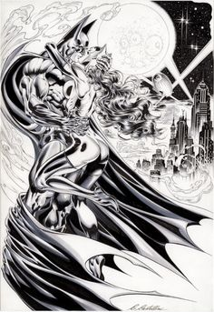 Batman and Catwoman by Claudio Castellini