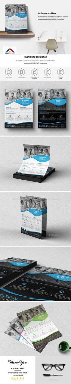 Haweya Corporate Flyer 03  - Corporate Flyers Psd Flyer Templates, Business Flyer Templates, Print Design, Web Design, Graphic Design, Company Brochure, Corporate Flyer, Flyer Design, Light In The Dark