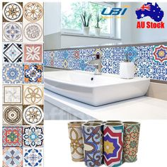Europe 5M Self Adhesive Tile Art Wall Decal Sticker DIY Kitchen Home Party Decor | eBay
