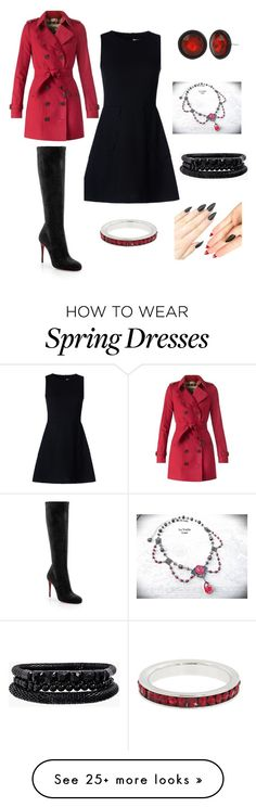 """""""Untitled #51"""" by marvel-nerdmks on Polyvore featuring Burberry, RED Valentino, Christian Louboutin, Kenneth Cole, Spring Street and Eternally Haute"""