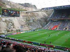 Would love to see a game in this carved-out stadium in Portugal!