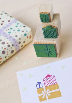 rubber stamp Gift by MOZAIQ
