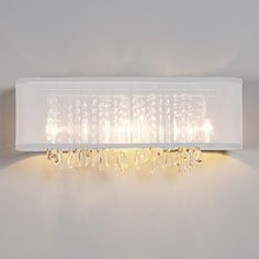Genial Organza And Crystal Bath Light / By, Shades Of Light.