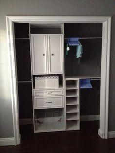 Gray and White Boy Nursery Closet