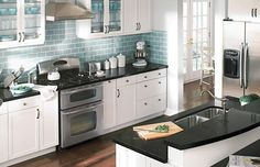Tile Splashback Ideas Pictures: Black and White Kitchen Designs