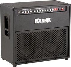 Krank Rev+ 100W 2x12 Tube Guitar Combo Amp BlackBlack Grille
