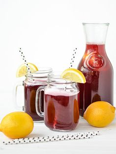 Sparkling Blackberry Lemonade:  Serve this bubbly drink and no one will realize that you used blackberry syrup instead of pureeing fresh blackberries.
