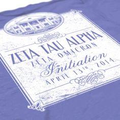 Zeta Tau Alpha - ZTA - Initiation Design - Zeta shirts - Sorority Shirts - Check out b-unlimited.com!