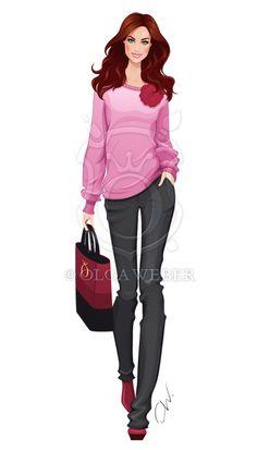 Fashion illustration: casual look by Ollustrator.deviantart.com on @deviantART