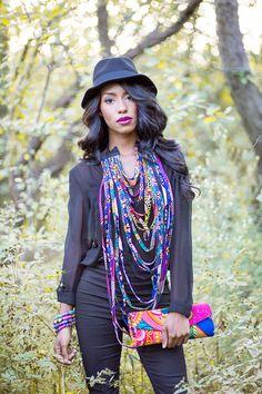 Gifty fringe necklace #africaninspiredfashion #africanfashion #ankaraprint