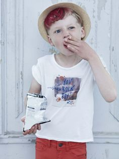ZADIG & VOLTAIRE LOOK BOOK KIDS SPRING/SUMMER 2013 Tee-shirt Toby, pants Wonderful.