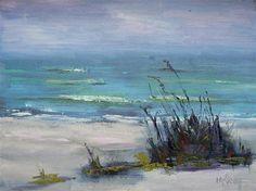 """Daily Painting, Oil, The Beach at Sanibel, 6x8"" - Original Fine Art for Sale - © Carol Schiff"