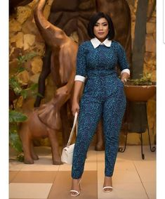 ankara stil The best Ankara jumpsuit for the working class classic ladies, for the year African Print Jumpsuit, Ankara Jumpsuit, African Print Dresses, African Fashion Dresses, African Dress, African Attire, African Wear, African Women, Ankara Styles For Women