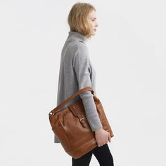 Buy Joules Belsize Leather Tote - Chestnut | Amara