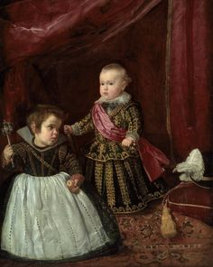 Infante Baltasar Carlos with a Dwarf, Diego Velázquez, @ Boston, Museum of Fine Arts Spanish Painters, Spanish Artists, Fine Art, Kids Portraits, Painter, Western Art, Museum Of Fine Arts, Painting, Painting Reproductions