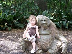 kid with orangutan