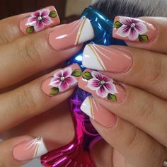 Pretty Toe Nails, Pretty Nail Art, Gorgeous Nails, Lily Nails, Plaid Nails, Hot Nails, Beautiful Nail Designs, Flower Nails, Simple Nails
