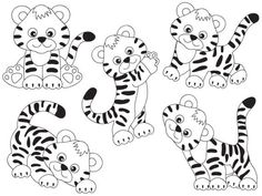 ITEM: Tiger Clipart - Vector Tigers Clipart, Tiger Clip Art, Tigers Clipart, Cute Tiger Clipart, Vector Tiger, Black and White Tiger Clipart, Tigers Clip Art for Personal a... #thecreativemill