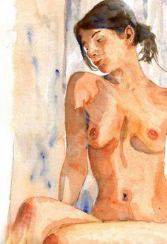 nude figure drawing Female Nude Art Signed artistic by SchulmanArt
