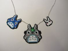 perler bead designs totoro | Totoro Family Necklace by pippop - Kandi Photos on Kandi Patterns