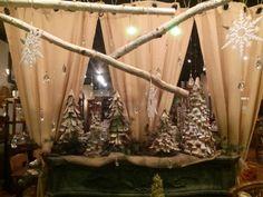 Christmas Window - Birch Theme Evilena's Red Dresser in Frankfort, IL