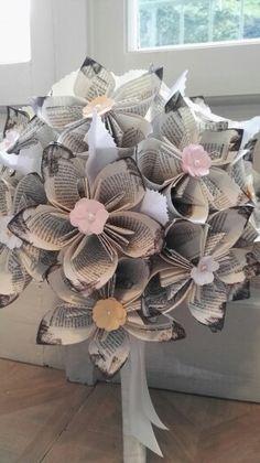 Bouquet sposa fiori di carta