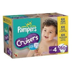 Amazon.com: Pampers Cruisers Diapers Economy Pack Plus Size 4 160 Count: Health & Personal Care