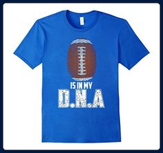 Mens American Football is in my DNA, American football T Shirt Large Royal Blue - Sports shirts (*Amazon Partner-Link)