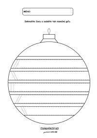 Vianočná guľa - Vianočné pracovné listy pre predškolákov
