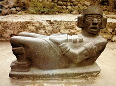Only Intact Chacmool from Toltec Site of Tula, Mexico. remember making one of these in spanish class?